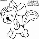 Apple Bloom Coloring Pages Applebloom Print Colorings sketch template