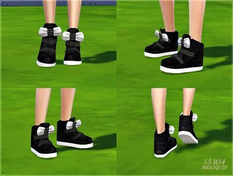 Bow high top sneakers at Marigold » Sims 4 Updates