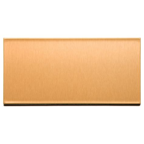 shop aspect metal 6 in brushed copper composite