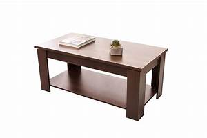 Tables hazlo lift top coffee table modern design white for White coffee table with brown top