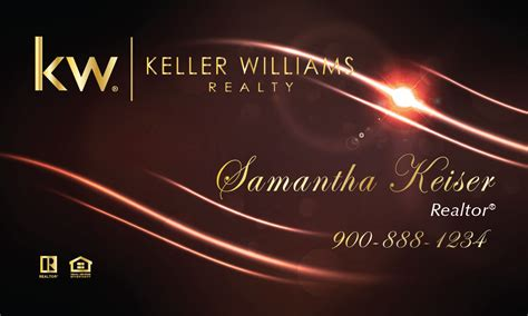 keller williams realty business card templates