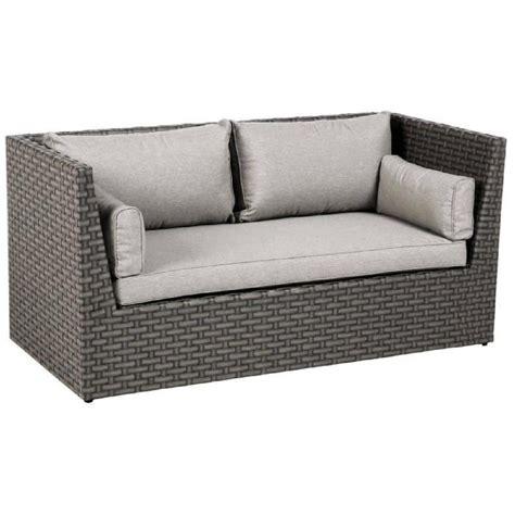 Canapé 2 places en Aluminium et résine tressée Dim : L