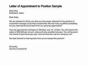 Appointment Letter – Legal Doents