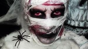 Déguisement Halloween Qui Fait Peur : maquillage halloween momie youtube ~ Dallasstarsshop.com Idées de Décoration