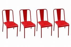chaise de cuisine rouge pas cher With deco cuisine avec lot de chaise pas cher