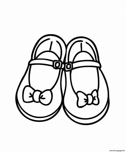 Coloring Clipart Printable Sandals Pretty Shoe Colouring