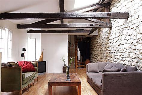 deco chambre avec poutre apparente décoration maison avec poutre apparente