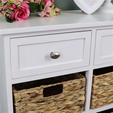 white wood wicker  drawer basket storage unit salford