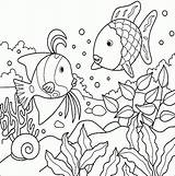 Fish Coloring Tropical Pages Cute Bestappsforkids sketch template