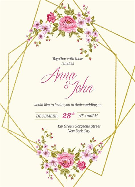 Wedding Invitation Templates Download Elegant Free Wedding
