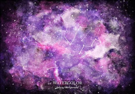The Galaxy Background Vector Purple Watercolor Galaxy Background Download Free