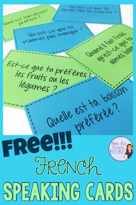These French speaking prompts are a great way to practice ...