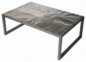 large metal recycled oil drum coffee table industrial With all metal coffee table