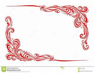 Red White And Blue Borders With Corners Wavy Corner ...