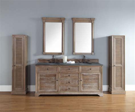 double sink bathroom vanity  driftwood finish