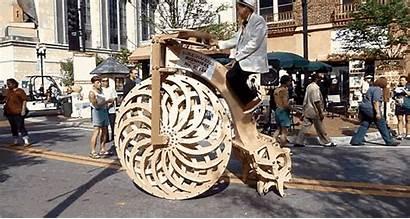 Bicycle Walking Bike Giant Wooden Huge Legs
