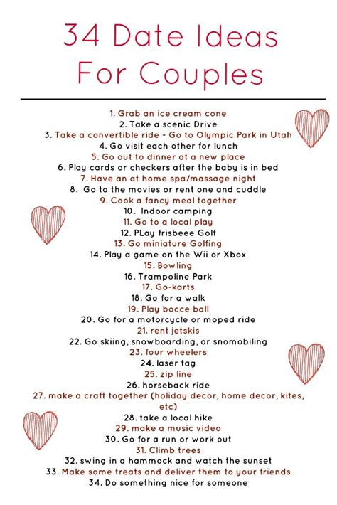couple date gifts here are 34 really awesome weekly date ideas for dating couples married couples and parents