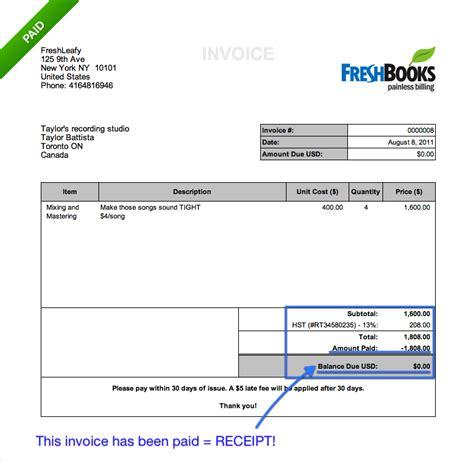 invoice receipt invoice or receipt free printable invoice