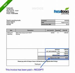 How do i create receipts for clients in freshbooks for How to make a invoice receipt