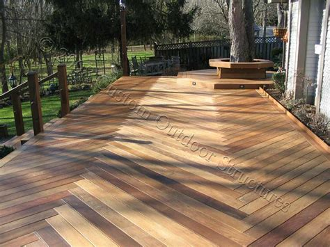 Wood Floor Decking Patio Timber Contemporary Wooden Pool