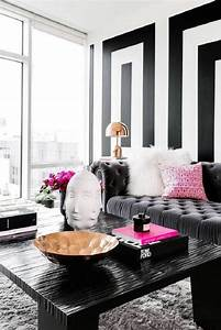 Interesting black and grey living room ideas black white