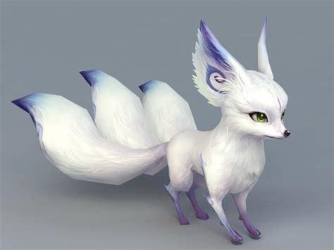 white fox spirit animal  model ds max files