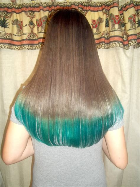dye  hair tips tealturquoise youtube