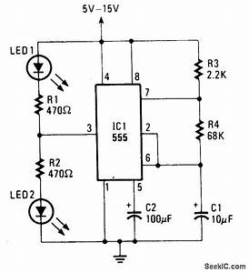 ultrasonic circuit page 3 audio circuits nextgr With led flasher 15v
