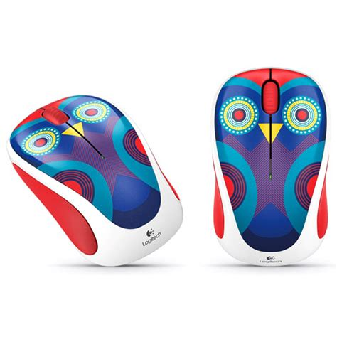 logitech colorful wireless mouse  whitegreen