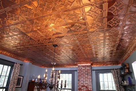 install  copper stamped metal ceiling ron hazelton