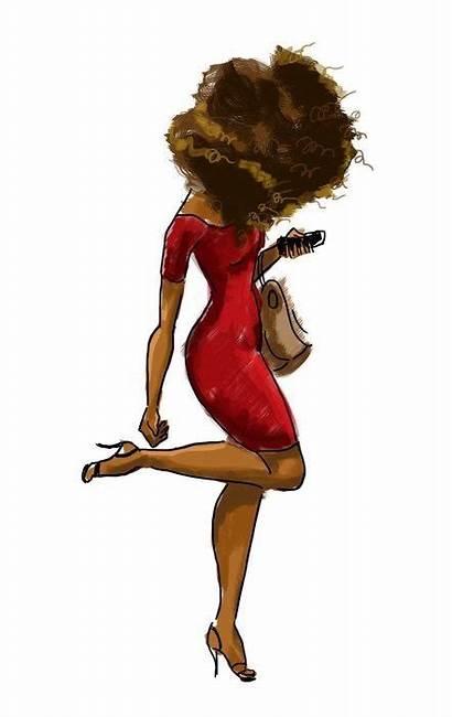 Hair Natural Drawing Debra Delta Sorority Afro