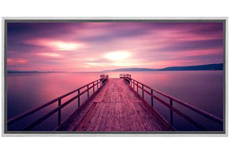 buy sunset  lake jetty canvas wall art print
