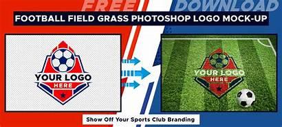 Mockup Photoshop Grass Field Football