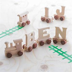 personalised wooden train letters childs name train With baby name train letters