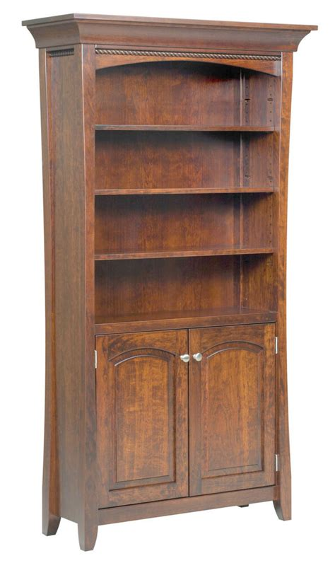 Solid Hardwood Bookcases by Amish Bookshelf Bookcase Solid Wood Wooden Furniture