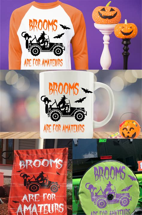 Svgcuts.com blog free svg files for cricut design space, sure cuts a lot and silhouette studio designer edition. Brooms Are For Amateurs SVG, Halloween Monster Truck ...