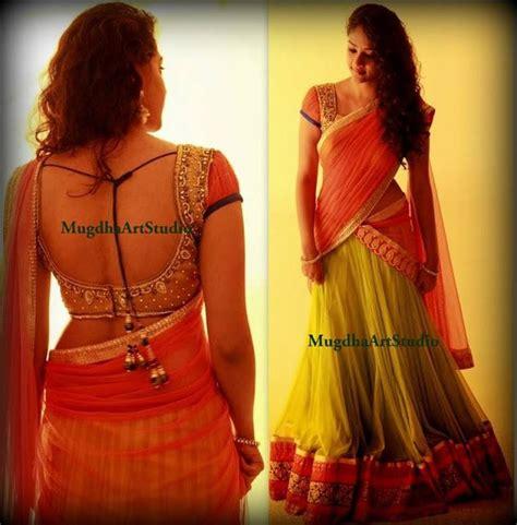 stunning half saree by mugdha studio sarees designer sarees bridal sarees