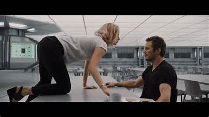 Lawrence Jennifer Passengers Scene Movie Chris Pratt