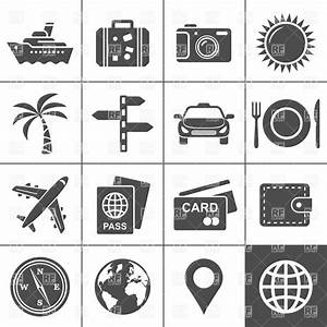 Travel and tourism icon set, 5949, Travel, download ...