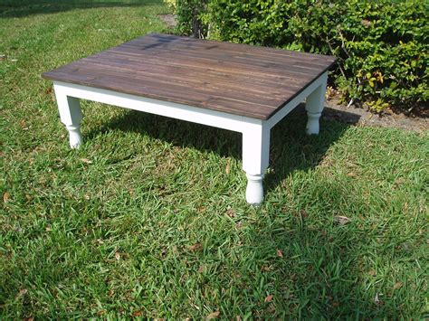 shabby chic coffee table by kenryandcompany on etsy