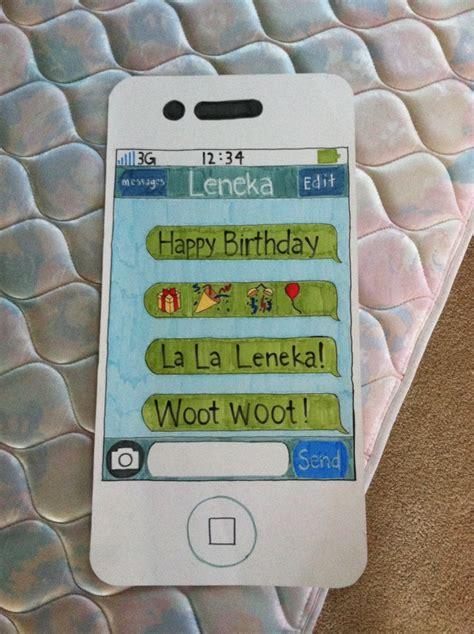 iphone card iphone birthday card birthday cards