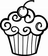 Clipart Bake Clip Cupcake Clipartmag sketch template