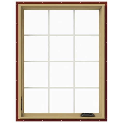 tafco windows       hand vinyl casement window  screen white vc