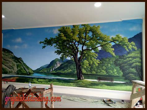 jasa pembuatan mural lukis dinding gambar pemandangan alam