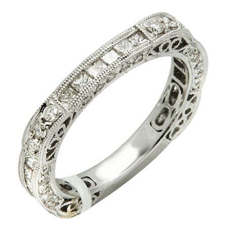 14k white gold pave filigree diamond eternity wedding band ring stack 5 6 7 8 9 ebay