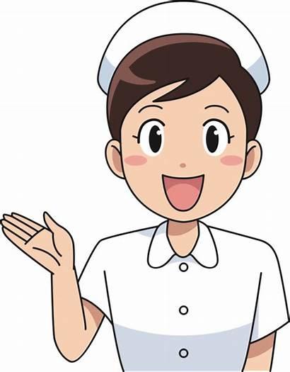 Nurse Cartoon Clipart Female Drawing Transparent Happy