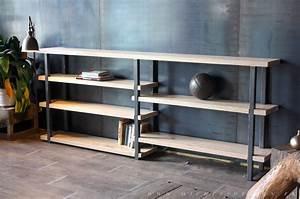 Etagere Bois Design : mobilier de style industriel micheli design ~ Teatrodelosmanantiales.com Idées de Décoration