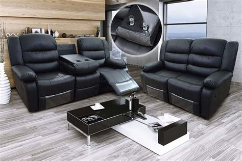 leather sectional recliner sofa with cup holders romina leather recliner sofas with cup holders 2 colours