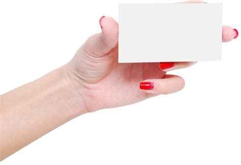 Hand Holding A Business Card Free Stock Photos Download
