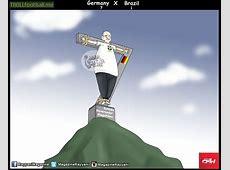 Cartoon Germany vs Brazil Troll Football